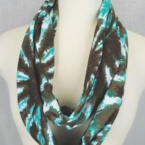 New Brown Tie Dyed Chunky Circle Scarf Stretch Jersey Infinity Loop Women Tube  Photo
