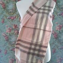New Burberry Ash Rose 100% Cashmere Giant Check Scarf  Photo