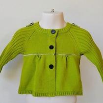 New Burberry Baby Girl Nova Check Green Cardigan Sweater Shirt3 Mos Photo