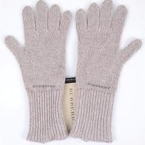 New Burberry Beige Cashmere Blend Knitted Texting Touch Mittens Gloves Photo