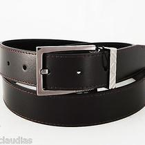 New Burberry Belt Briar Chocolate 36-38 (95) Check Buckle With Gift Box Dust Bag Photo