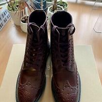 New Burberry Brogue Derby Boots Size 8 Photo