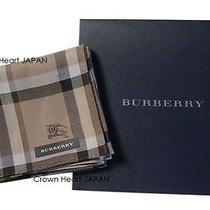 New Burberry Cotton Handkerchief / Mini-Scarf Japan-Licensed Check Beige 48cm Photo