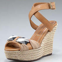 New Burberry Donegall Check/trench Espadrille Platform Wedge Sandal 39/us 9 475 Photo