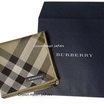 New Burberry Licensed Japan Handkerchief / Mini Scarf Diagonal Tartan Check Rare Photo