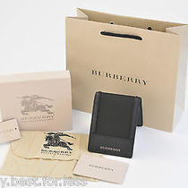 New Burberry nylon&calf Leather Wallet Bifold W/dust Bagcare Cardgift Bagtags Photo
