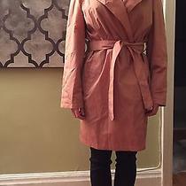 New Burberry Raincoat Trench Jacket Coat Pink Iridescent 12 Large Rose Blush Xl Photo