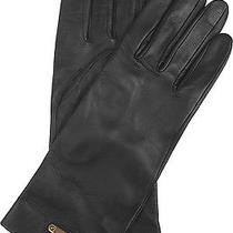 New Burberry Women's 375 Jenny Lambskin Leather Touch Screen Texting Gloves 7.5 Photo