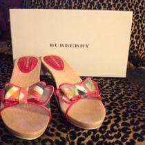 New Burberry Wood Heels Size 37 Photo
