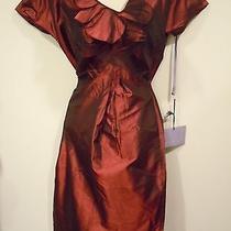 New Burgundy Taffeta Dress by Vera Wang Lavendar Label Photo