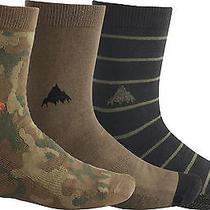 New  Burton Apres Sock 3-Pack - Multi Camo  Medium Photo