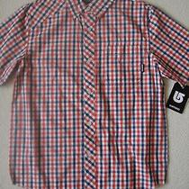 New Burton Boys Youth Formal Short Sleeve Woven Button Up Shirt  Photo