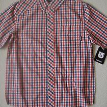 New Burton Boys Youth Formal Short Sleeve Woven Button Up Shirt  Photo