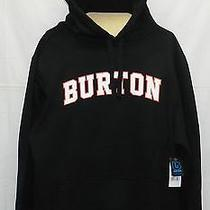 New Burton College Pullover Hoody Men's Sweatshirt Black Medium Photo