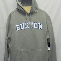 New Burton College Pullover Hoody Men's Sweatshirt Gray Small Photo