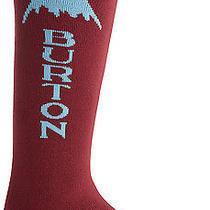 New  Burton Emblem Snowboard Sock - Crimson  Medium Photo