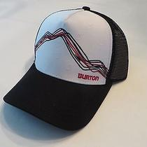 New Burton Mens Hill Valley Trucker Snapback Cap Hat Osfa Photo