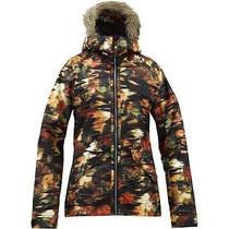 New Burton Snow Jacket Scarlet Trippy Garden Women's Medium Photo