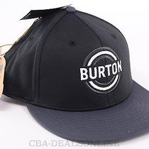New Burton Snowboarding Logo Circle Target Hat - One Size - Bitters - Snapback  Photo