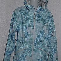 New Burton Sport Jacket Rain Windbreaker Hiking Biking Blue & White Women's Xl Photo