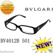 New Bvlgari 4012-B Black Spring Hinges 51-15-135 Frame Glass Eyewear Eyeglasses Photo