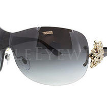 New Bvlgari Bv 6064b 278 8g Black Gold Grey Gradient Sunglasses Photo