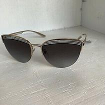 New Bvlgari Cat Eye Sunglasses 0bv6118 2033/8g Rose Gold W/ Gray Gradient Lenses Photo