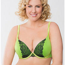 New Cacique Lane Bryant Jasmine Green Smooth Boost Plunge Bra Whith Lace Sz 42dd Photo