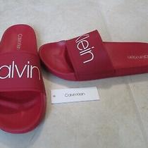 New Calvin Klein Men's Alfonzo Slide Sandals Size 11 Red 39.50 Photo