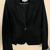 New Calvin Klein One Button Dark Blue Blazer Jacket Women's Size 6 Photo