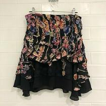 New Camilla and Marc Black Floral Ruched Skirt Rrp 399 Photo