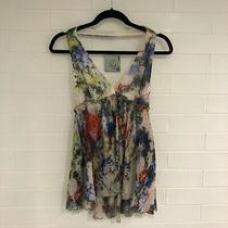 New Camilla and Marc White Watercolour Halter Top Rrp 399 Photo