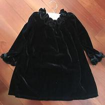 New Camilla Baby Dress Ruffled Collar & Matching Cuffs Velvet Size 5t Holiday Photo