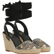 New Camilla Franks Crystal Embelished Espadrille Wedge Lost Paradise Shoes Size  Photo