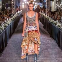 New Camilla Franks Silk Swarovski Altering Perception Pocket Skirt One Size Photo