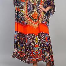 New Camilla Franks Silk Swarovski Entaki v Neck Kaftan Dress  Photo