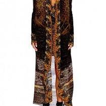 New Camilla Franks Silk Wool Swarovski Ancient Eyes Long Jacket Coat Kaftan Layb Photo