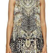 New Camilla Silk Sleeveless Top Neutral Colour Photo