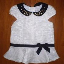 New Camilla Toddler Girls Off White/black Dressy Dresscottonrayon Poly 2t Photo
