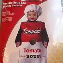 New Campbell's Tomato Soup Can Bunting Infant Costume 3-9m Photo