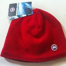 New Canada Goose Merino Wool Beanie Hat Cap Red One Size Fast Ship Authentic Photo