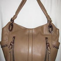 New Cappuccino B.makowsky Alice Leather Shopper Rosegold Chaincase 298 A209680 Photo