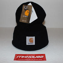 New Carhartt Beanie Black Box Logo Hat Cap Camp 5 Panel Supreme 6 Era Crusher Photo
