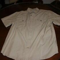 New Carhartt Khaki Tan Button Up Fishing Hiking Shirt Xl Extra Large Photo