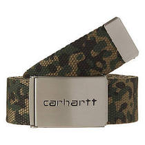 New Carhartt Men's - Clip Chrome Belt Canvas Accessories Green Photo