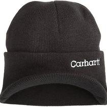 New Carhartt Men's Knit Beanie Hat With Visor One Size Fast Free Shipping Photo