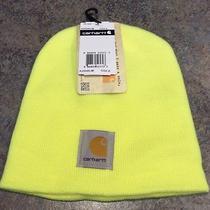 New Carhartt Neon Yellow Acrylic Beanie Hat Photo