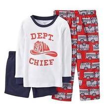 New Carters Baby Boys 3 Fireman Fdp Pj 18 Mos Dept Chief Long Sleeve Pajama Set Photo