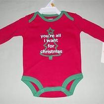 New Carters Christmas Bodysuit Size New Born Photo