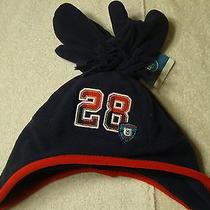 New Carters Fleece Hat Mittens Set Boys Blue Red 12-24 Months Photo